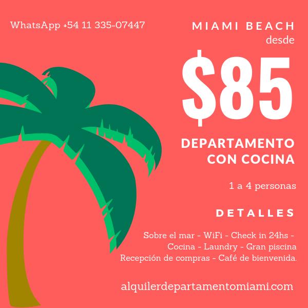 Departamento en Miami Beach Collins