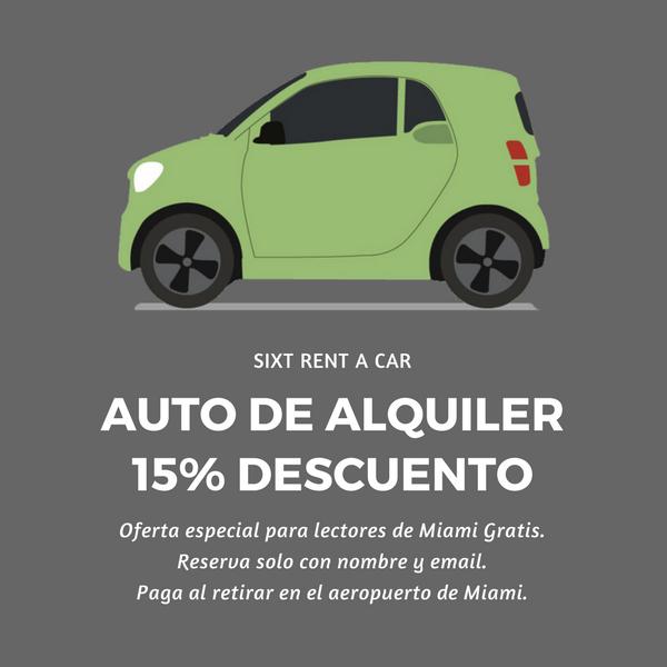 Auto alquiler Sixt Miami