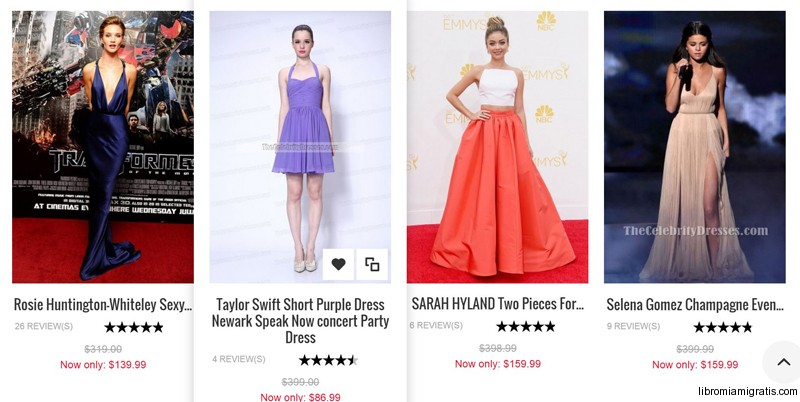Vestidos de fiesta de famosas baratos