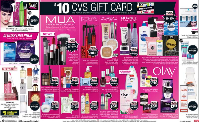 CVS Ad cosméticos