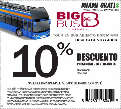 Cupon BigBus Miami