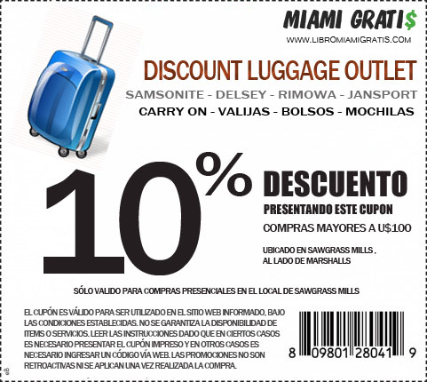 Cupon Luggage Sawgrass