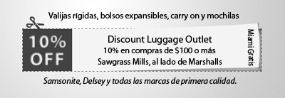 Discount Luggage Sawgrass Cupon