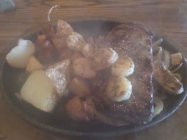 Bourbon Steak Shrimp Applebees