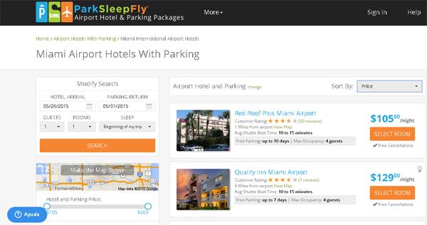 ParkFly hoteles mia airport