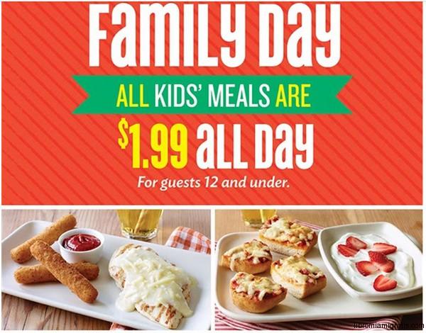 Applebees Family Day $1.99