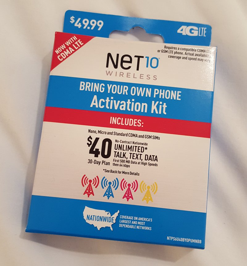 Net10 Bring Your Own Phone SIM Card Unlimited Data