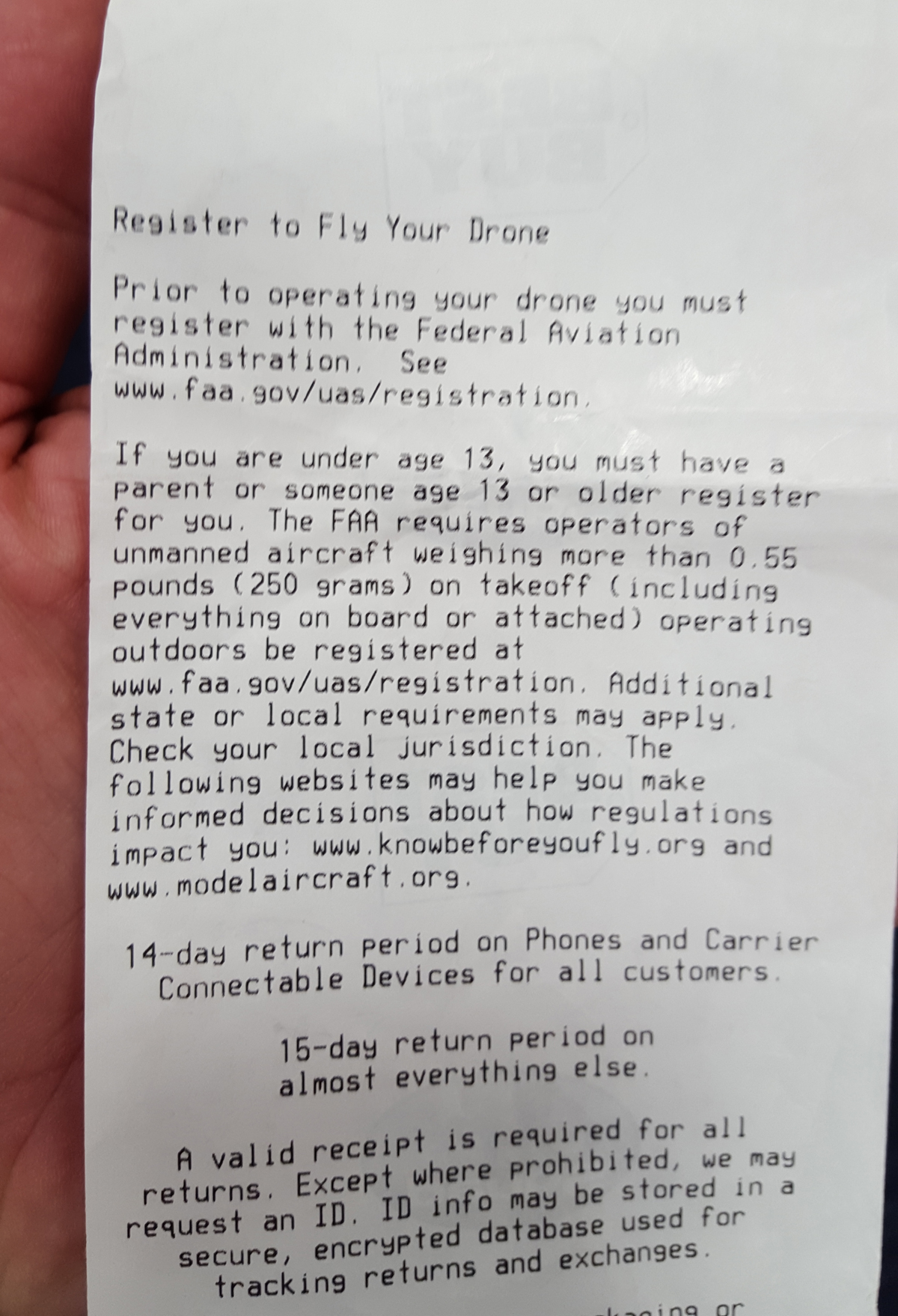 Ticket Drone