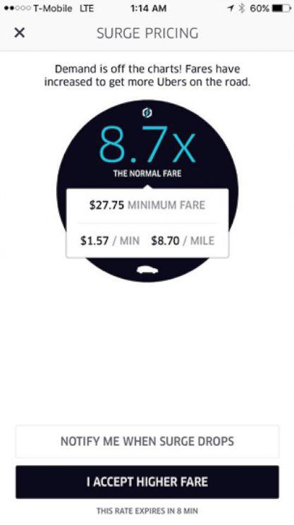 UberPantallaSurcharge