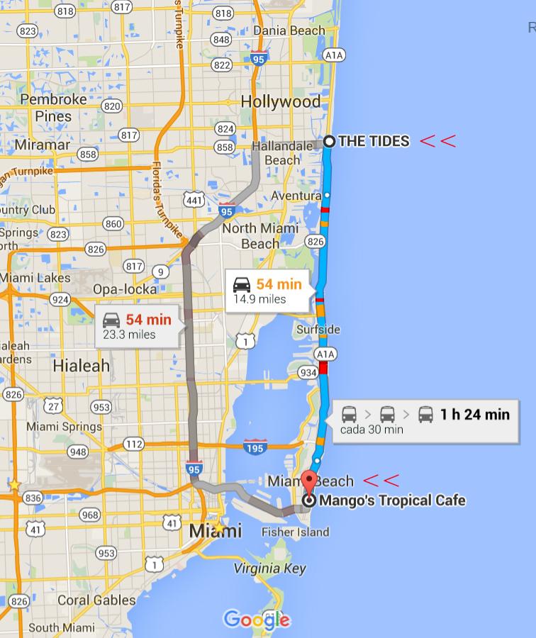 Mapa The Tides