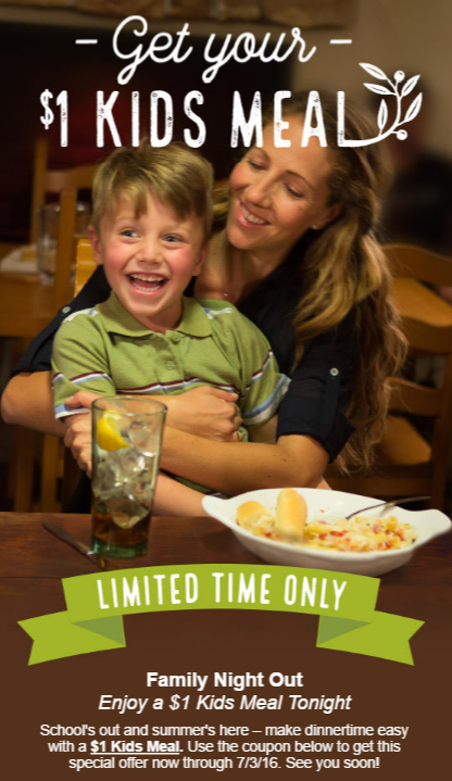 Olive Garden Coupon Miami