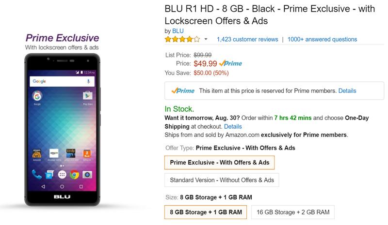 Smartphone de Amazon a 49 dólares