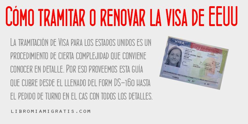 cómo sacar o renovar la visa de estados unidos  miami gratis
